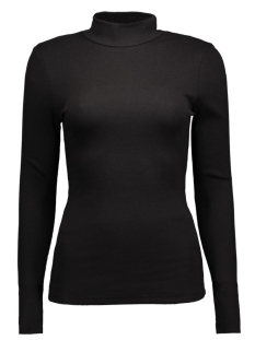 Vila Trui VIFALLS RIB TURTLENECK TOP-NOOS 14036491 Black