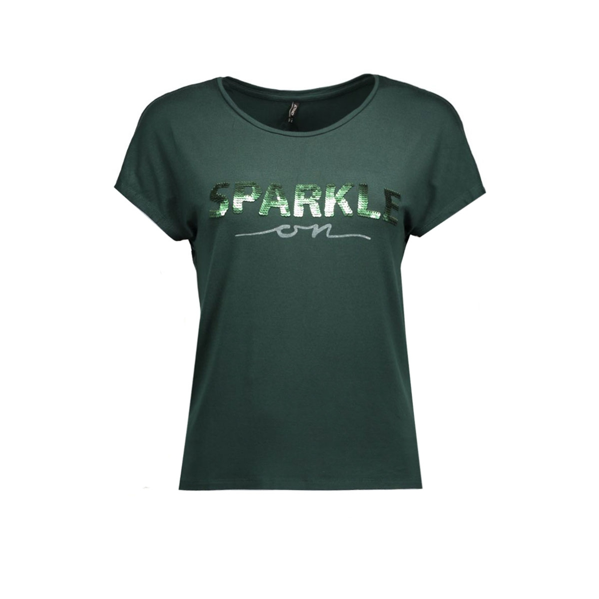 onlsally s/s a/sparkle top box ess 15124415 only t-shirt scarab/sparkle