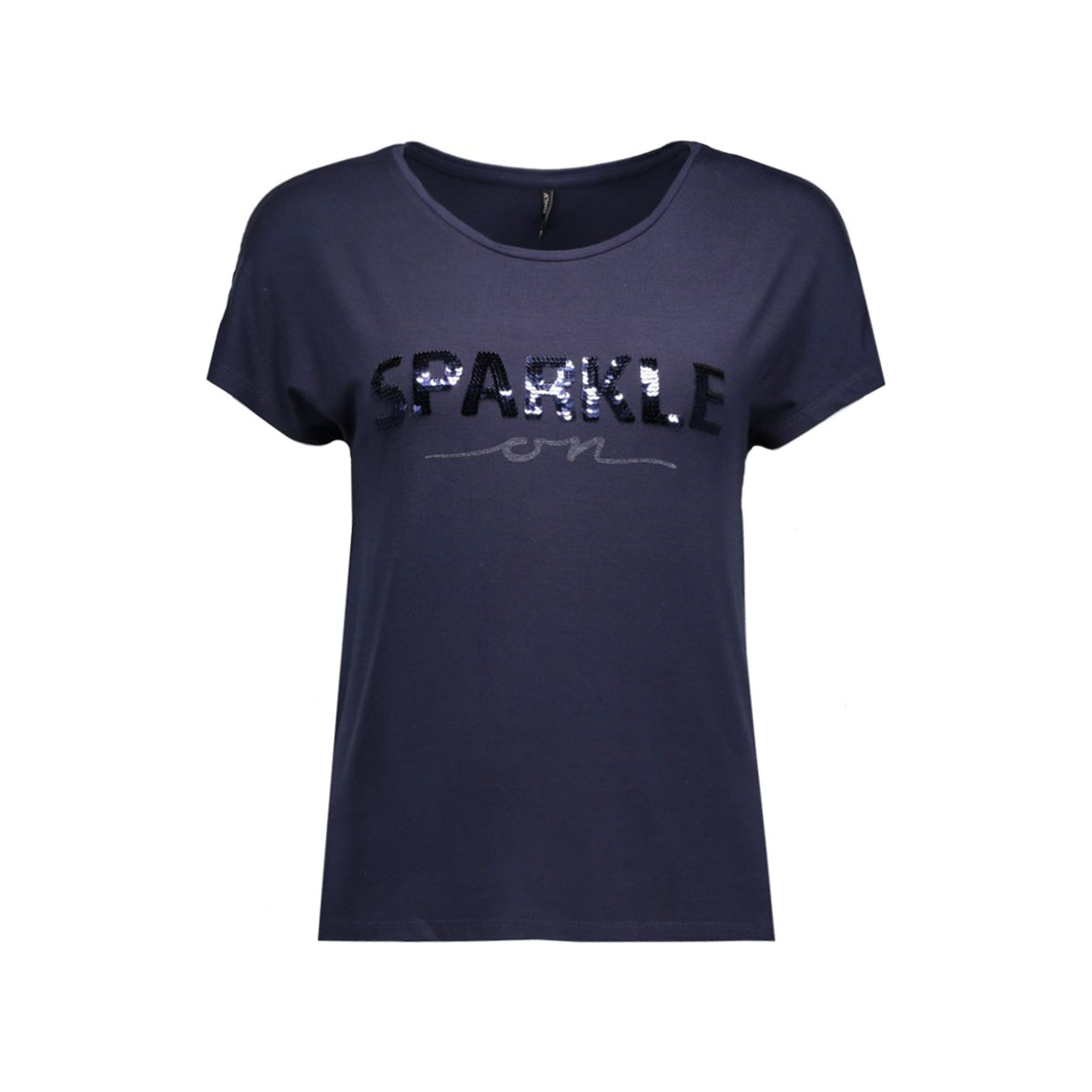 onlsally s/s a/sparkle top box ess 15124415 only t-shirt night sky/sparkle