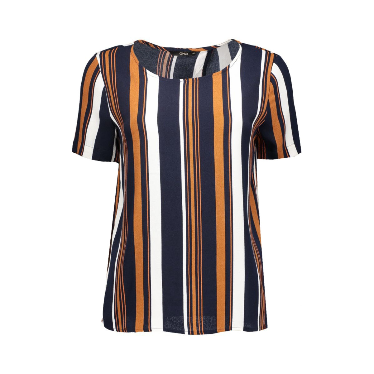 onlstrix cupid stripe s/s top wvn 15122991 only t-shirt night sky/worker