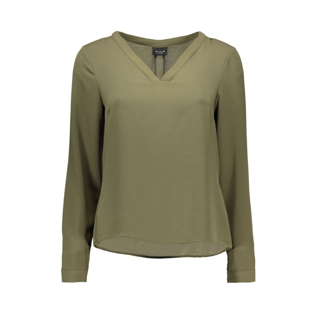 viremember l/s top-noos 14036047 vila blouse ivy green