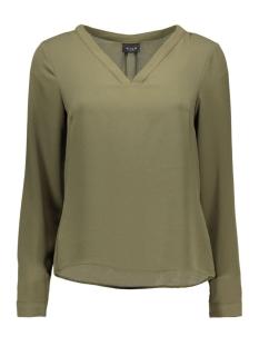 viremember l/s top-noos 14036047 vila blouse ivy green