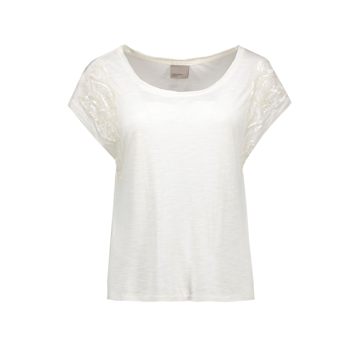 vmtinna s/s top jrs 10162238 vero moda t-shirt snow white