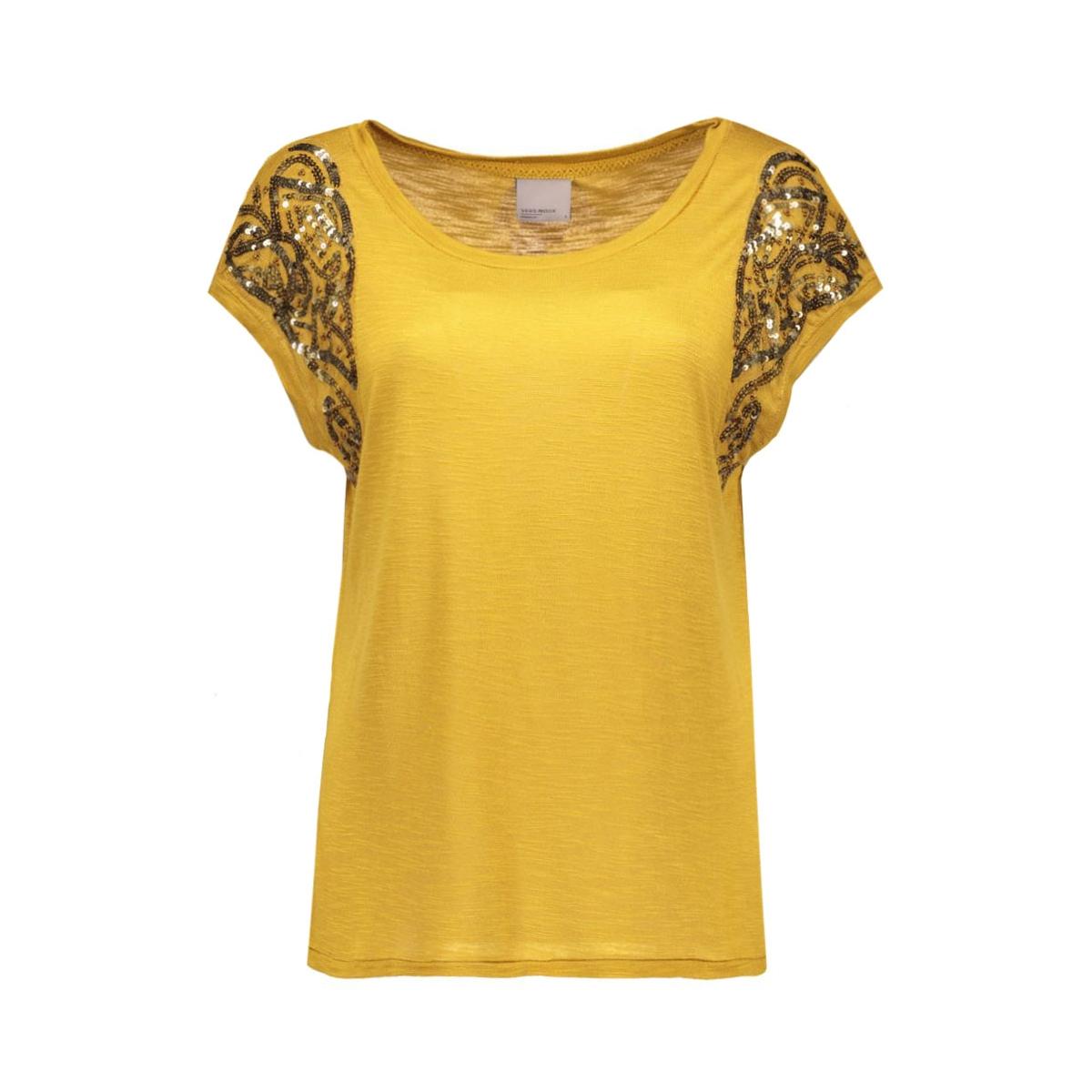 vmtinna s/s top jrs 10162238 vero moda t-shirt harves gold