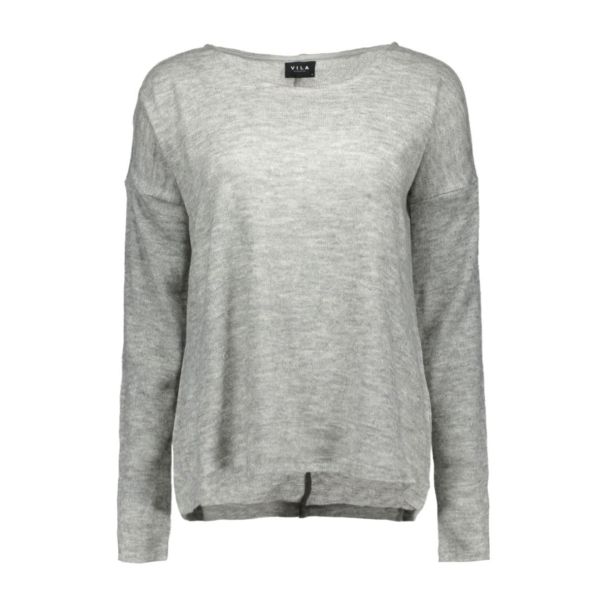 vitonic l/s top 14036927 vila trui light grey melange