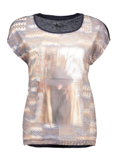 onlasta s/s mesh top box 15123691 only t-shirt night sky/navajo fro