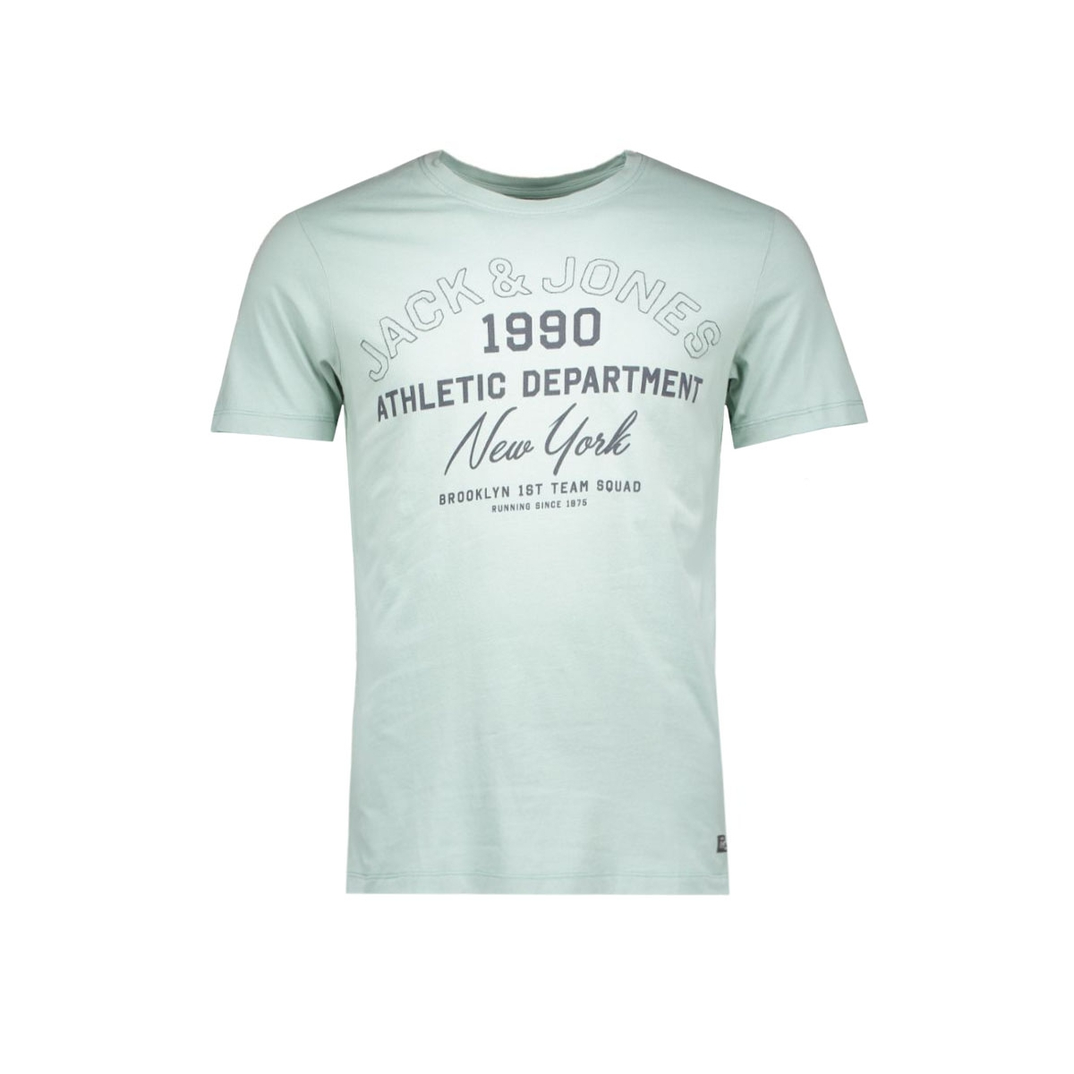 jorklovn tee ss crew neck 12108424 jack & jones t-shirt mineral blue