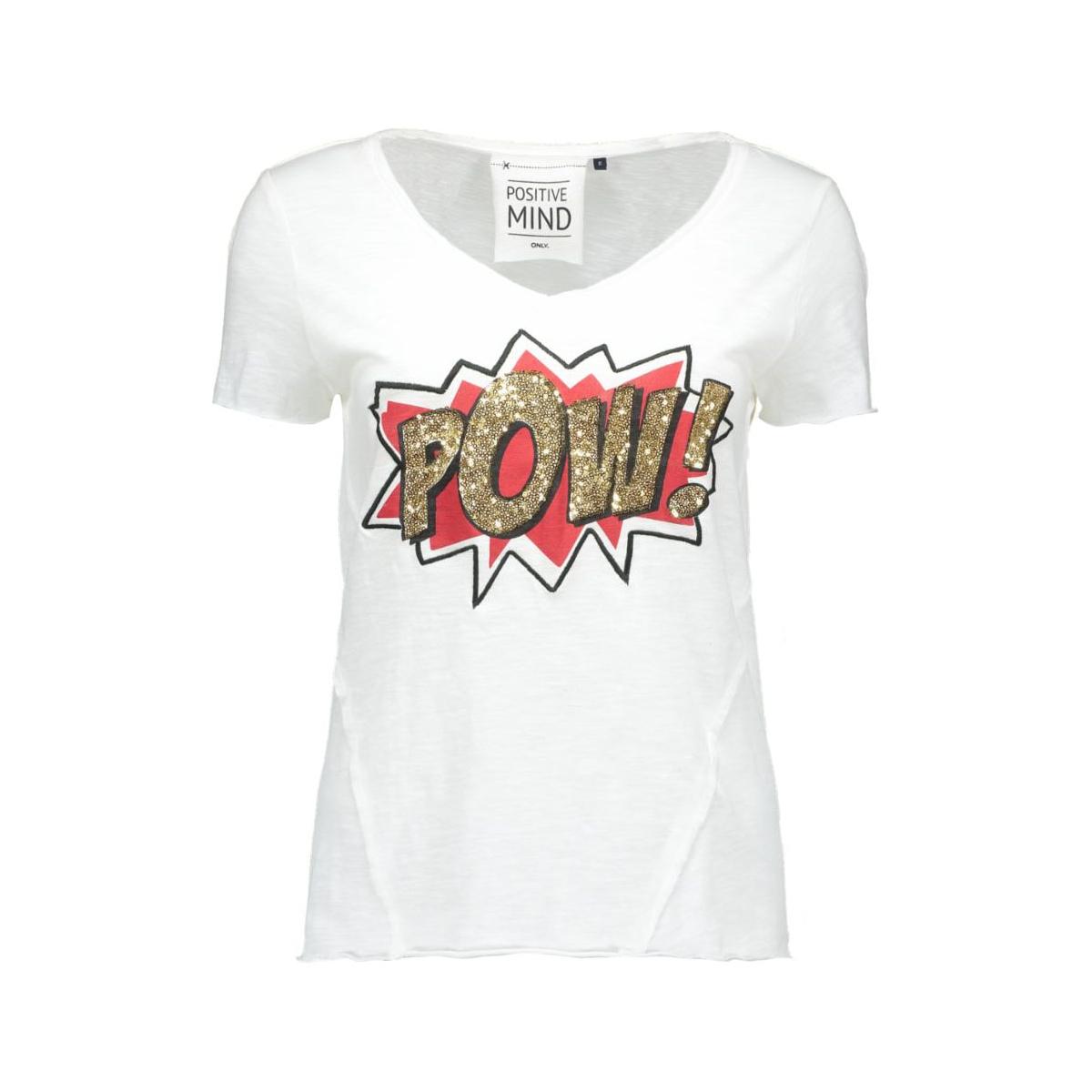 onlaugusta s/s love/pow top box ess 15123853 only t-shirt cloud dancer/pow