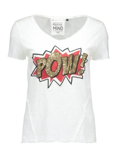 onlAUGUSTA S/S LOVE/POW TOP BOX ESS 15123853 Cloud Dancer/Pow