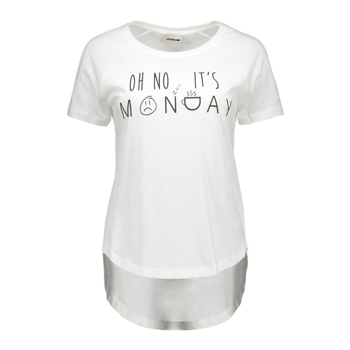 nmpeter s/s top 16- 6 10162859 noisy may t-shirt bright white