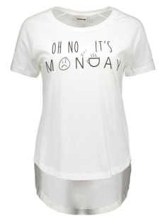 Noisy may T-shirt NMPETER S/S TOP 16- 6 10162859 Bright White
