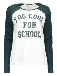 Noisy may T-shirt NMGRADU L/S TOP 10162628 white/ponderosa