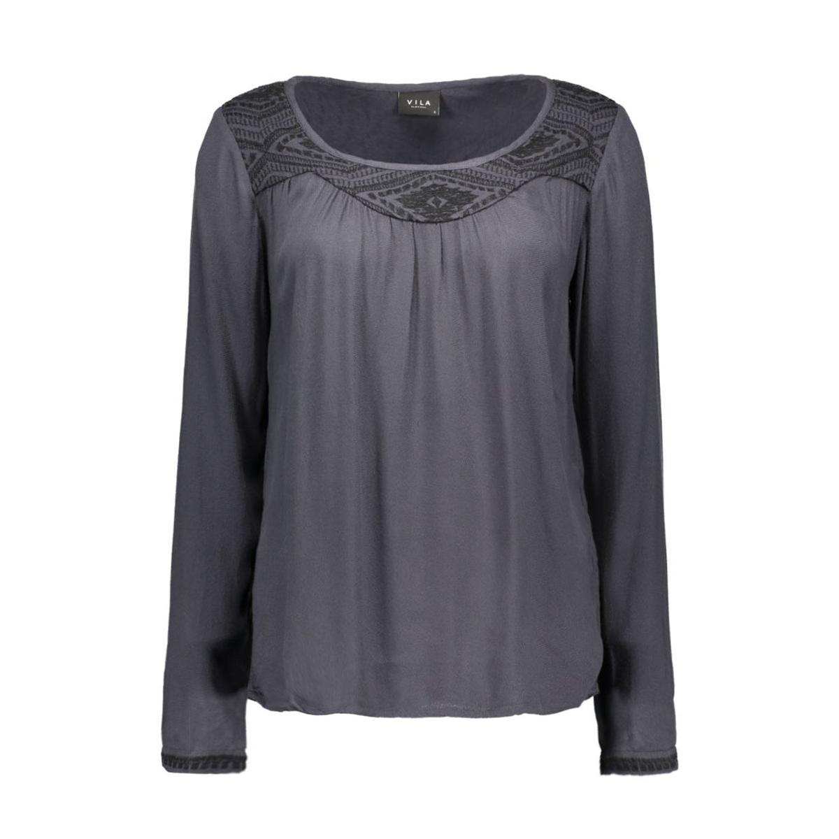 vicasy top 14036744 vila t-shirt ebony/black