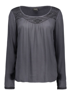 Vila T-shirts VICASY TOP 14036744 Ebony/Black
