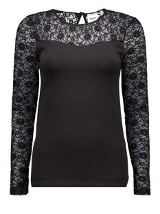 Object T-shirt OBJLIP LACE L/S TOP NOOS 23021782 Black