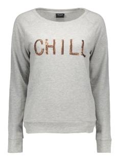 vitopa sequin sweat top 14038780 vila sweater light grey mela/sequince