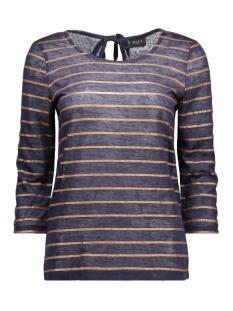 Vila T-shirt VIASHE 3/4 SLEEVE TOP 14038203 Total Eclipse/Copper Str
