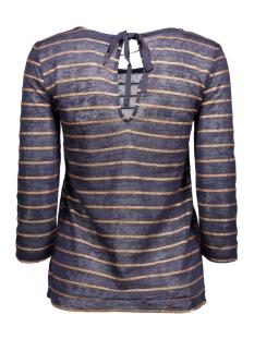 viashe 3/4 sleeve top 14038203 vila t-shirt total eclipse/copper str