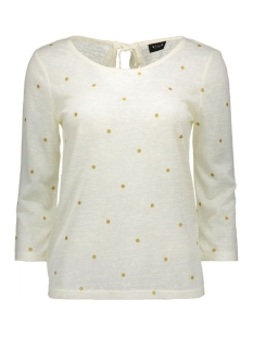VIASHE 3/4 SLEEVE TOP 14038203 Pristine/Gold Dots