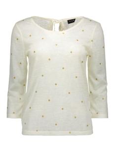 Vila T-shirt VIASHE 3/4 SLEEVE TOP 14038203 Pristine/Gold Dots