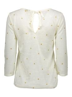 viashe 3/4 sleeve top 14038203 vila t-shirt pristine/gold dots