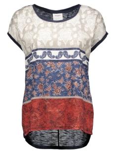 Vero Moda T-shirts VMOLIVIA JACKIE SS WIDE TOP BOX DNM 10160025 Navy Blazer/With Print