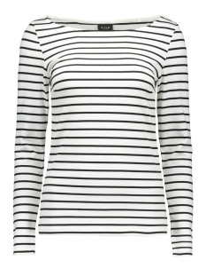vitinny boatneck l/s top 14039287 vila t-shirt snow white