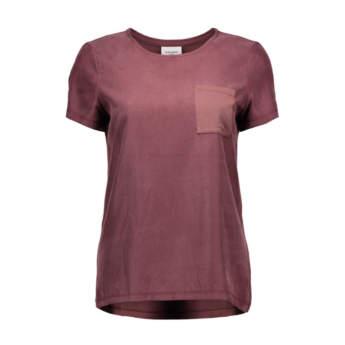 vmtenna s/s top dnm ga 10161808 vero moda t-shirt decadent chocolate