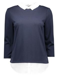 Vila T-shirts VITINNY SHIRT DETAIL TOP 14038394 Total Eclipse