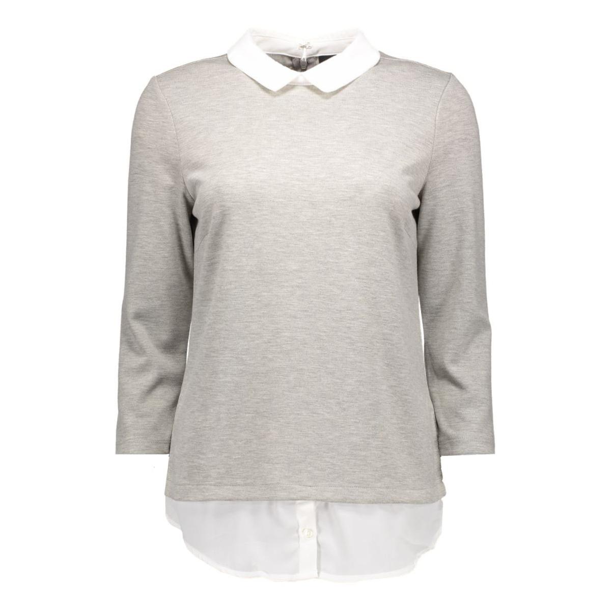 vitinny shirt detail top 14038394 vila t-shirt light grey melange