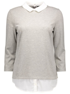 Vila T-shirts VITINNY SHIRT DETAIL TOP 14038394 Light grey melange