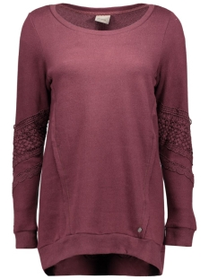 Vero Moda Sweaters VMLISA LACE L/S LONG TOP SWT 10162288 Decadent Chocol/Melange