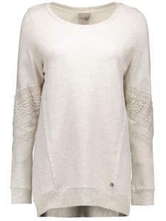 Vero Moda Sweaters VMLISA LACE L/S LONG TOP SWT 10162288 Oatmeal/MELANGE FA