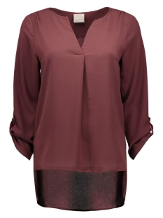 vmsasha 3/4 top a 10161415 vero moda t-shirt decadent chocolate