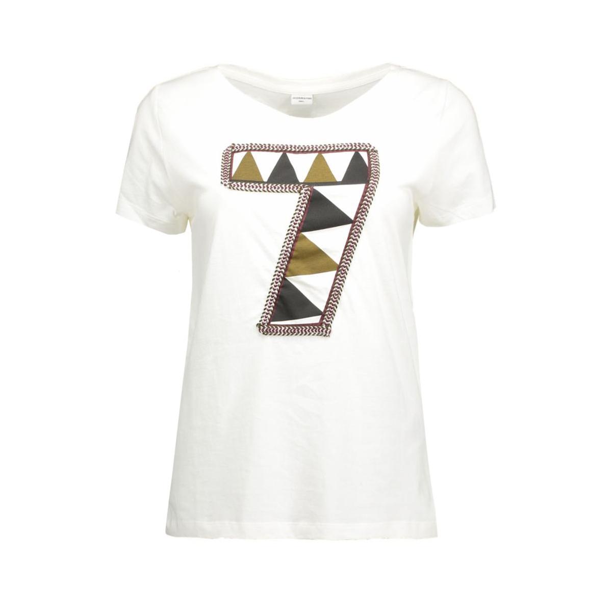 jdyclaire s/s print top jrs 15120276 jacqueline de yong t-shirt cloud dancer/7