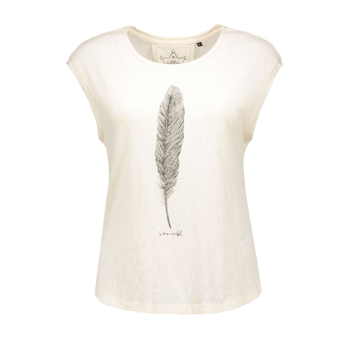 onlmadeline s/s feather/necklace bo 15124413 only t-shirt cloud dancer