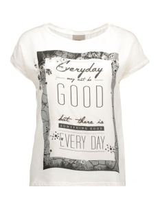 vmsia s/s top box jrs 10162236 vero moda t-shirt snow white/text every