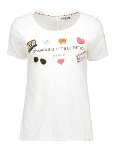 onlbone s/s raw print top box ess3 15129055 only t-shirt cloud dancer/darling