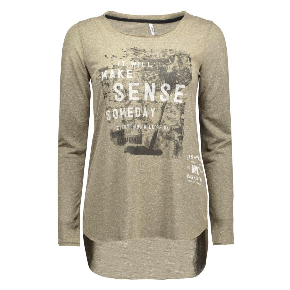 onlclara l/s straight top box ess 15129351 only t-shirt tarmac/sense