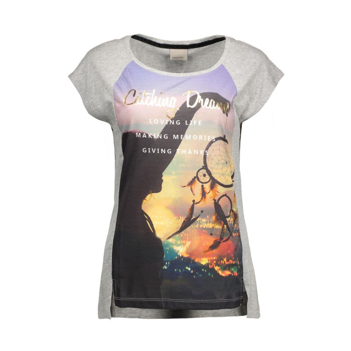vmnanna s/s top box jrs 10162473 vero moda t-shirt light grey mela/w. front p