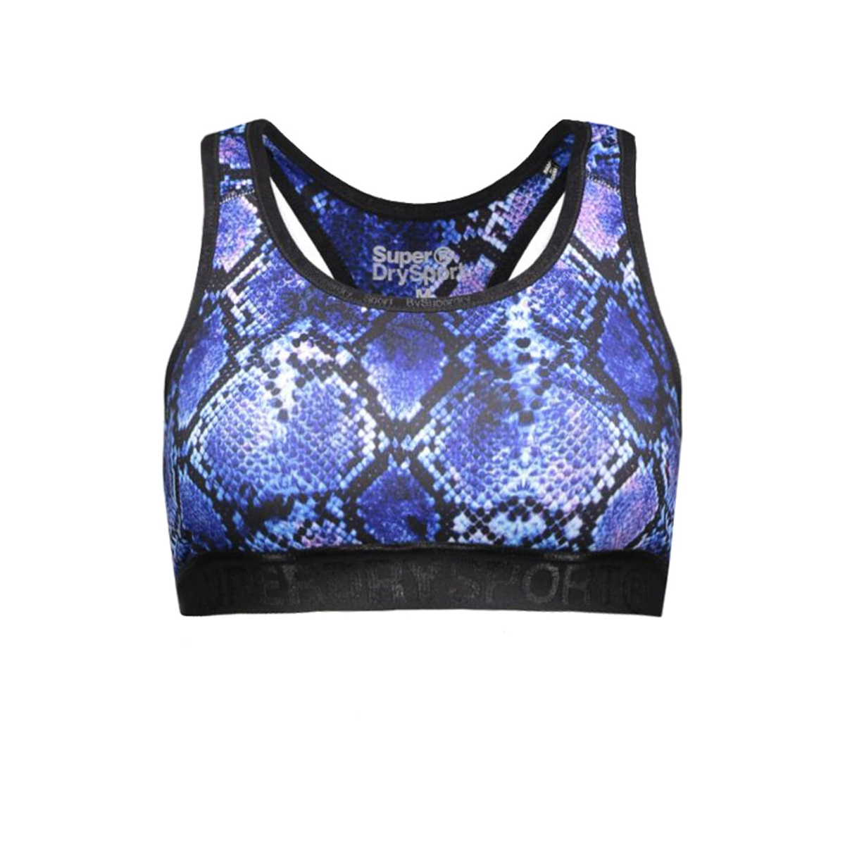 g60008pn gym bra superdry sport top purple python