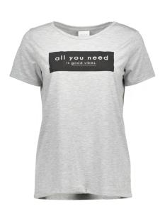 Vila T-shirt VISOLARIS T-SHIRT 14040275 light grey