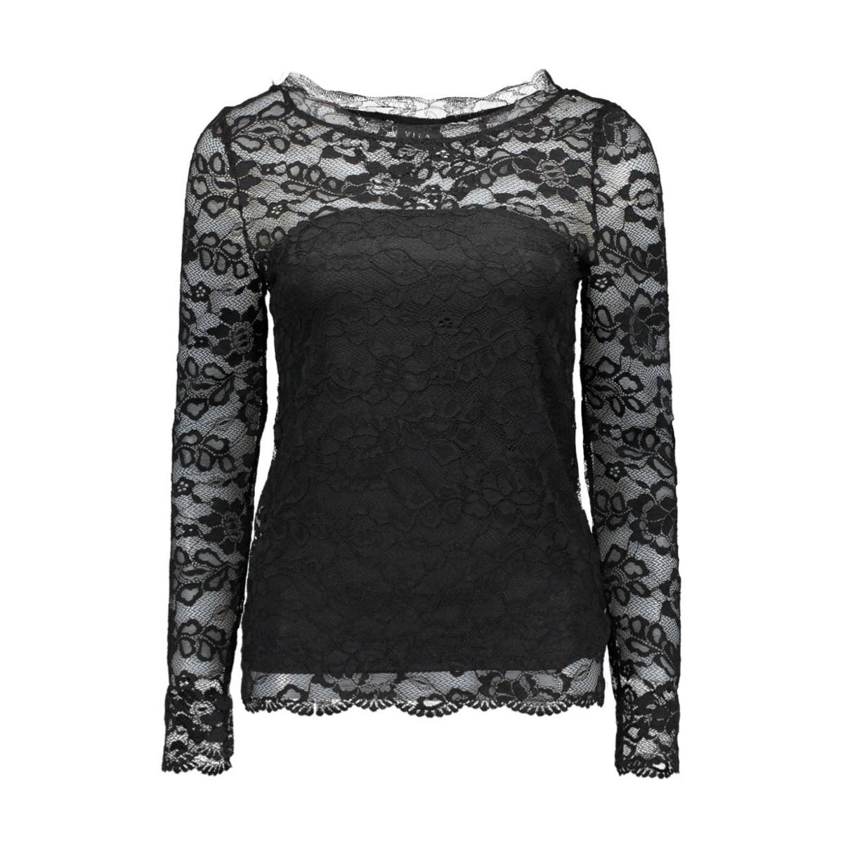 vijanna l/s top 14036935 vila t-shirt black