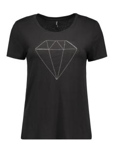 onlalice s/s diamond top ess 15126996 only t-shirt black/diamond