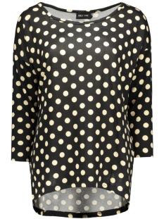 onlelcos bella 4/5 top jrs 15133164 only t-shirt black/dots