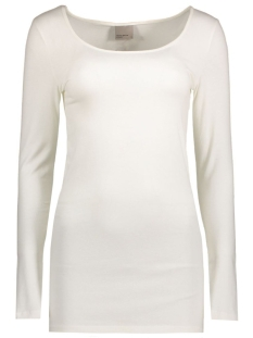 Vero Moda T-shirt VMMAXI MY LS SOFT LONG U-NECK NOOS 10152908 Snow White