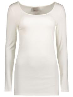 vmmaxi my ls soft long u-neck noos 10152908 vero moda t-shirt snow white