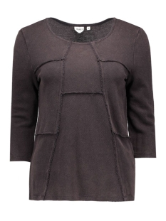 Object T-shirt OBJSINE 3/4 TOP 23023103 Anthracite