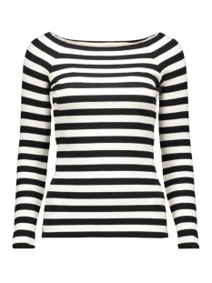 vmyenge new l/s striped top lcs 10170078 vero moda t-shirt black/snow white