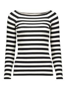 vmyenge new l/s striped top lcs 10170078 vero moda t-shirt black/snow white